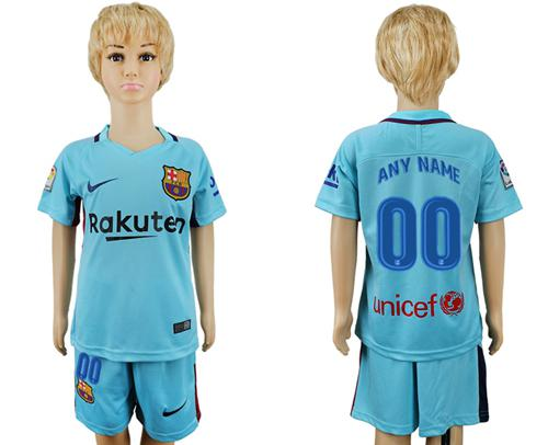 Barcelona Personalized Away Kid Soccer Club Jersey