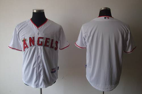 Angels of Anaheim Blank White Cool Base Stitched MLB Jersey
