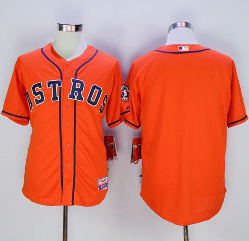 Astros Blank Orange Cool Base Stitched MLB Jersey
