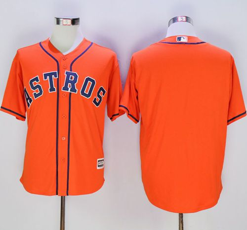 Astros Blank Orange New Cool Base Stitched MLB Jersey