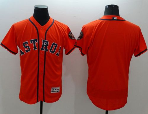 Astros Blank Orange Flexbase Authentic Collection Stitched MLB Jersey