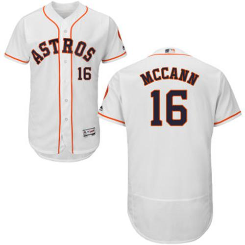 Astros #16 Brian McCann White Flexbase Authentic Collection Stitched MLB Jersey
