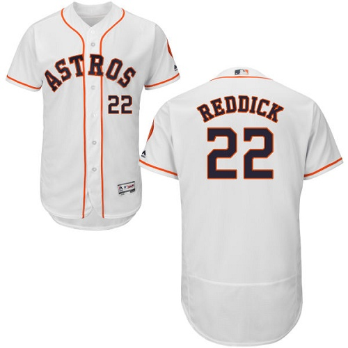 Astros #22 Josh Reddick White Flexbase Authentic Collection Stitched MLB Jersey