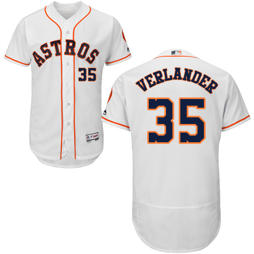 Astros #35 Justin Verlander White Flexbase Authentic Collection Stitched MLB Jersey