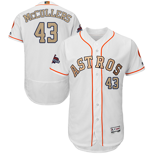 Astros #43 Lance McCullers White FlexBase Authentic 2018 Gold Program Cool Base Stitched MLB Jersey