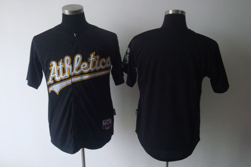 Athletics Blank Black Cool Base Stitched MLB Jersey