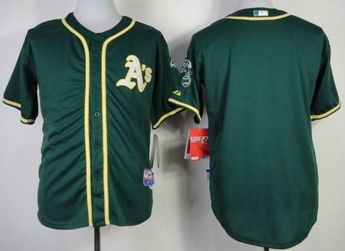 Athletics Blank Green Cool Base Stitched MLB Jersey