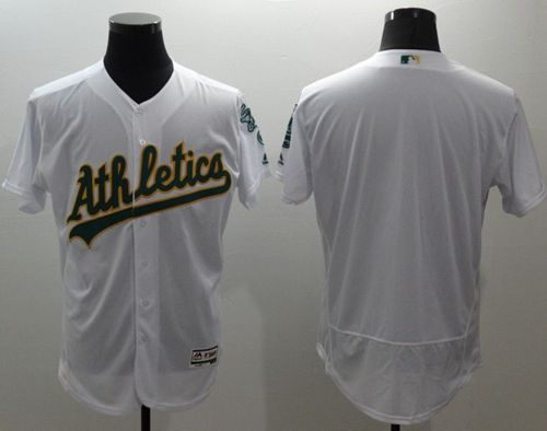 Athletics Blank White Flexbase Authentic Collection Stitched MLB Jersey