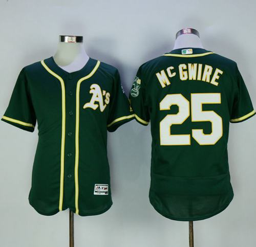 Athletics #25 Mark McGwire Green Flexbase Authentic Collection Stitched MLB Jersey