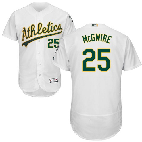 Athletics #25 Mark McGwire White Flexbase Authentic Collection Stitched MLB Jersey