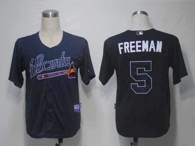 Braves #5 Freddie Freeman Blue Cool Base Stitched MLB Jersey