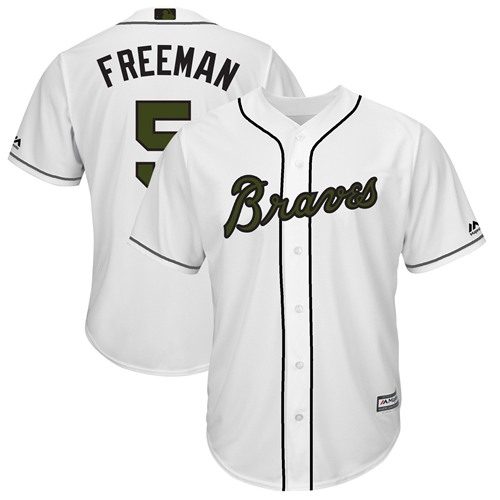 Braves #5 Freddie Freeman White New Cool Base 2018 Memorial Day Stitched MLB Jersey