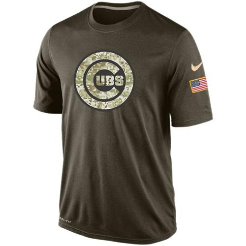 Men's Chicago Cubs Salute To Service Nike Dri-FIT T-Shirt