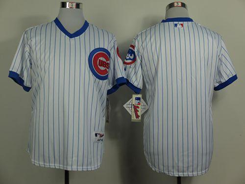 Cubs Blank White 1988 Turn Back The Clock Stitched MLB Jersey