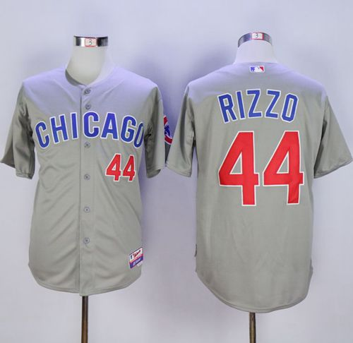 Cubs #44 Anthony Rizzo Grey Cool Base Stitched MLB Jersey