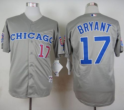 Cubs #17 Kris Bryant Grey 1990 Turn Back The Clock Stitched MLB Jersey