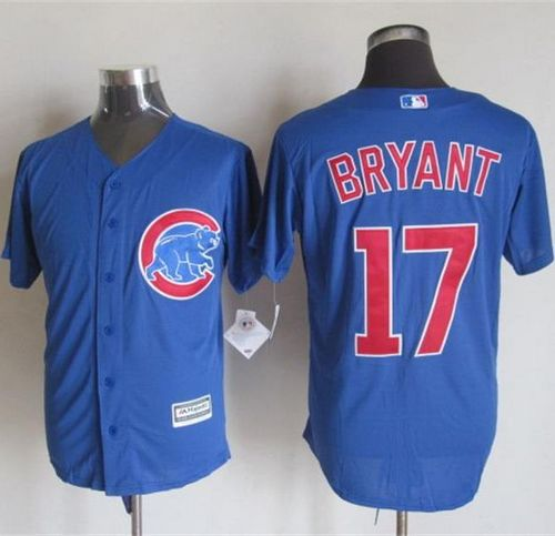 Cubs #17 Kris Bryant Blue New Cool Base Stitched MLB Jersey