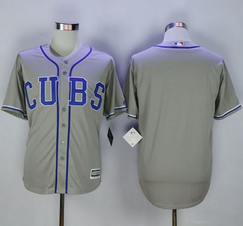 Cubs Blank Grey Alternate Road New Cool Base Stitched MLB Jersey