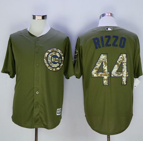 Cubs #44 Anthony Rizzo Green Camo New Cool Base Stitched MLB Jersey