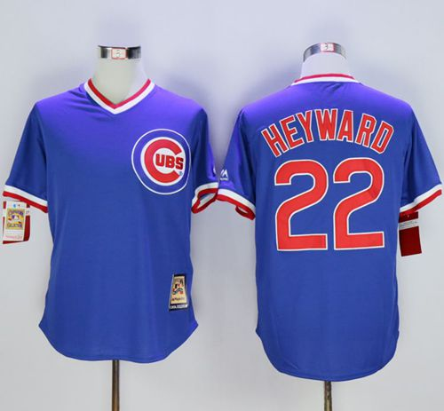 Cubs #22 Jason Heyward Blue Cooperstown Stitched MLB Jersey