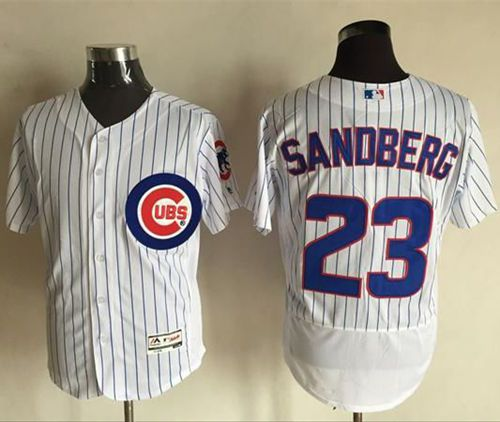 Cubs #23 Ryne Sandberg White Flexbase Authentic Collection Stitched MLB Jersey