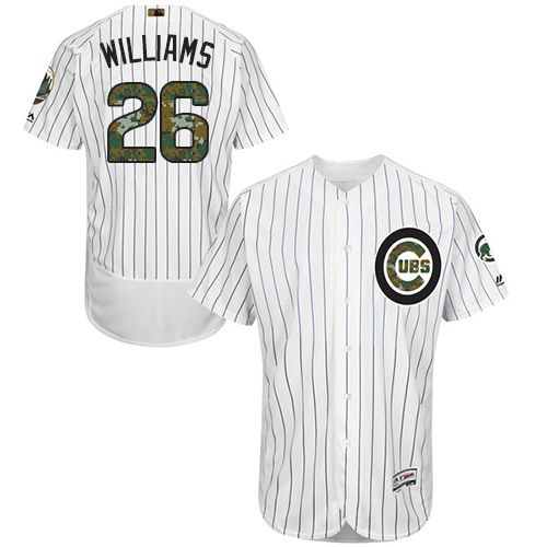 Cubs #26 Billy Williams White(Blue Strip) Flexbase Authentic Collection Memorial Day Stitched MLB Jersey
