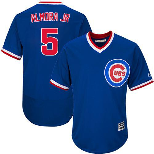 Cubs #5 Albert Almora Jr. Blue Flexbase Authentic Collection Cooperstown Stitched MLB Jersey