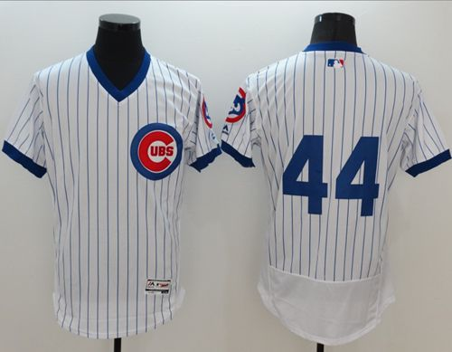 Cubs #44 Anthony Rizzo White Flexbase Authentic Collection Cooperstown Stitched MLB Jersey