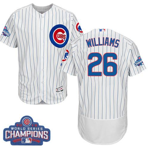 Cubs #26 Billy Williams White Flexbase Authentic Collection 2016 World Series Champions Stitched MLB Jersey