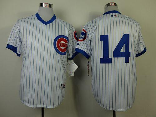Cubs #14 Ernie Banks White 1988 Turn Back The Clock Stitched MLB Jersey