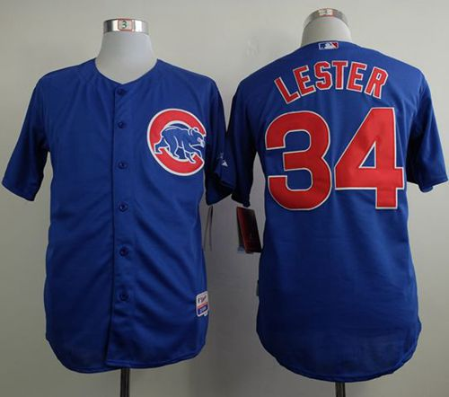 Cubs #34 Jon Lester Blue Cool Base Stitched MLB Jersey