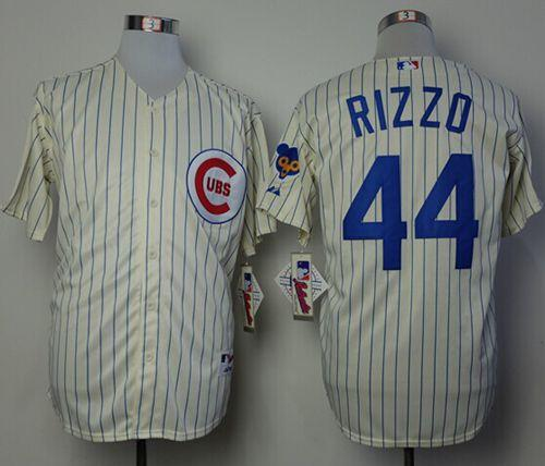 Cubs #44 Anthony Rizzo Cream 1969 Turn Back The Clock Stitched MLB Jersey
