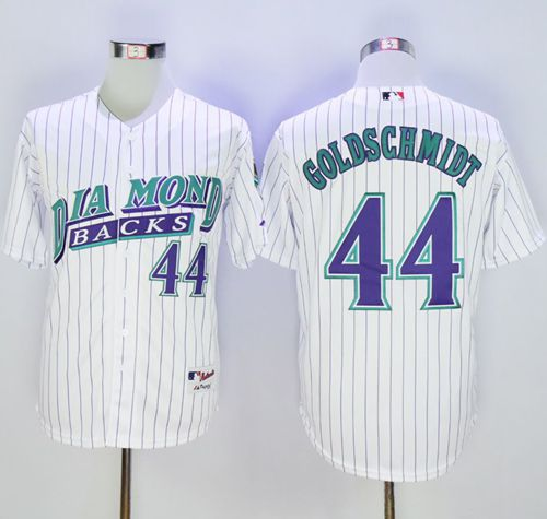 Diamondbacks #44 Paul Goldschmidt White 1999 Turn Back The Clock Stitched MLB Jersey