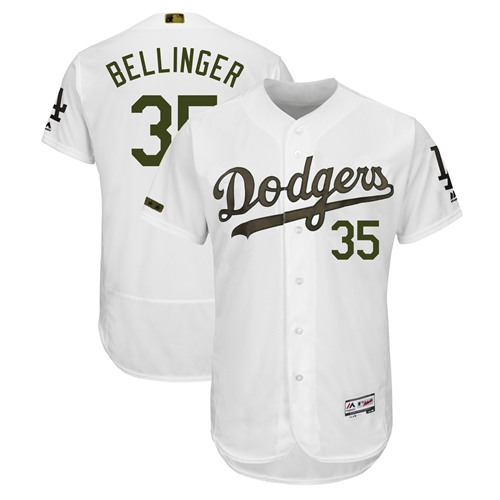 Dodgers #35 Cody Bellinger White Flexbase Authentic Collection 2018 Memorial Day Stitched MLB Jersey