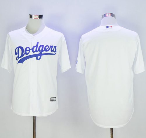 Dodgers Blank White New Cool Base Stitched MLB Jersey
