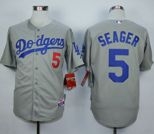 Dodgers #5 Corey Seager Grey Cool Base Stitched MLB Jersey