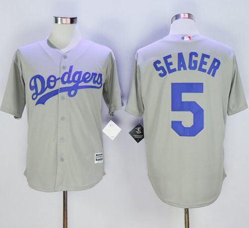 Dodgers #5 Corey Seager Grey New Cool Base Stitched MLB Jersey
