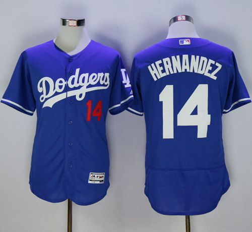 Dodgers #14 Enrique Hernandez Blue Flexbase Authentic Collection Stitched MLB Jersey