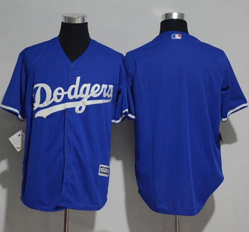 Dodgers Blank Blue New Cool Base Stitched MLB Jersey