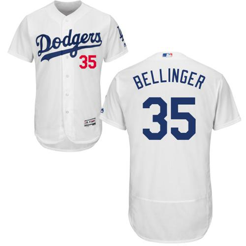 Dodgers #35 Cody Bellinger White Flexbase Authentic Collection Stitched MLB Jersey