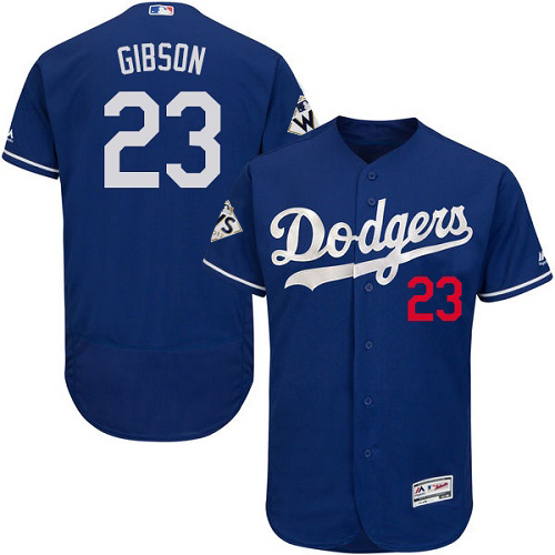 Dodgers #23 Kirk Gibson Blue Flexbase Authentic Collection World Series Bound Stitched MLB Jersey