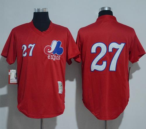 Mitchell And Ness 1989 Expos #27 Vladimir Guerrero Red Throwback Stitched MLB Jersey
