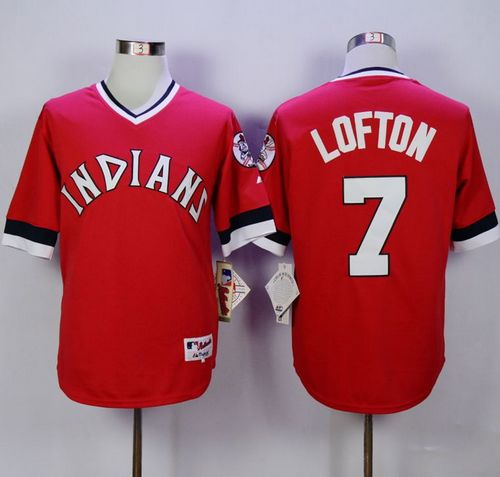 Indians #7 Kenny Lofton Red 1978 Turn Back The Clock Stitched MLB Jersey