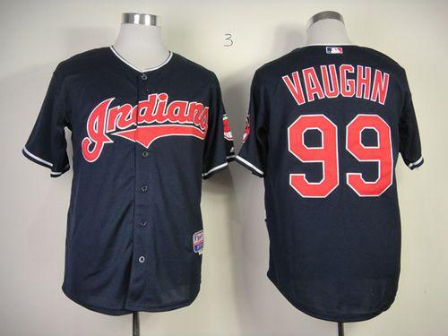 Indians #99 ricky vaughn Navy Blue Cool Base Stitched MLB Jersey