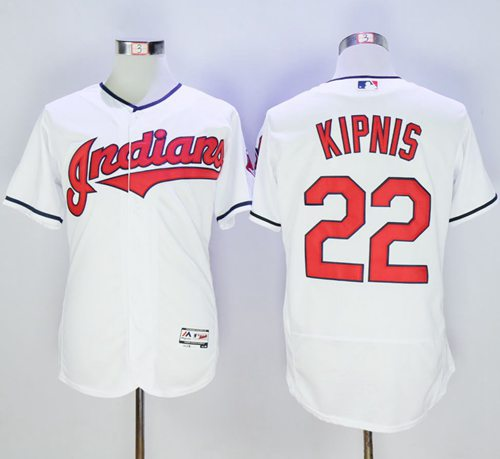 Indians #22 Jason Kipnis White Flexbase Authentic Collection Stitched MLB Jersey