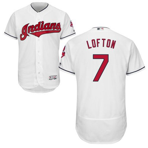 Indians #7 Kenny Lofton White Flexbase Authentic Collection Stitched MLB Jersey