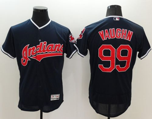 Indians #99 Ricky Vaughn Navy Blue Flexbase Authentic Collection Stitched MLB Jersey