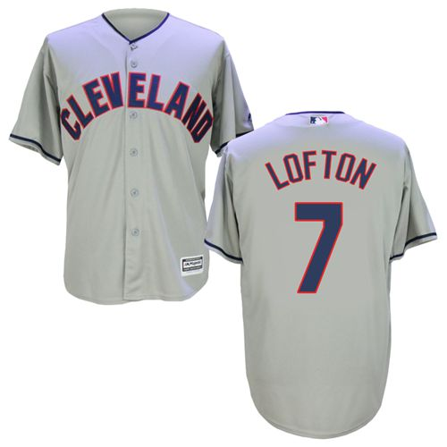 Indians #7 Kenny Lofton Grey New Cool Base Stitched MLB Jersey
