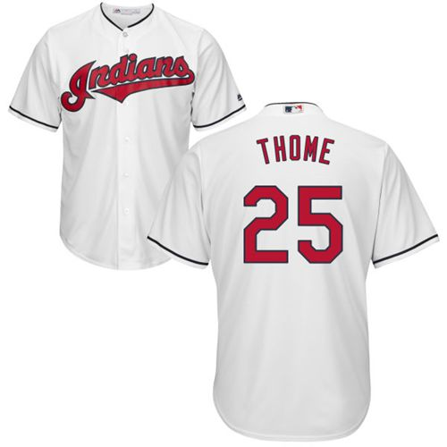 Indians #25 Jim Thome White New Cool Base Stitched MLB Jersey