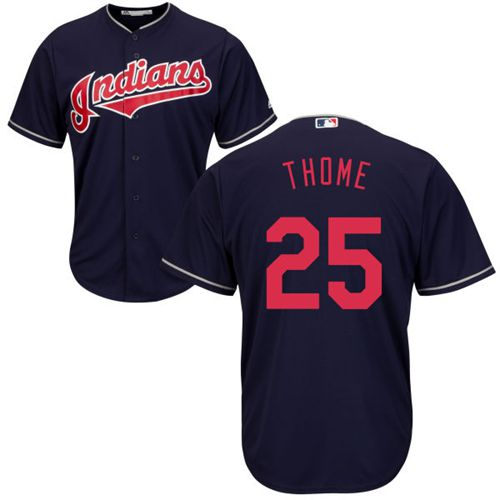 Indians #25 Jim Thome Navy Blue New Cool Base Stitched MLB Jersey